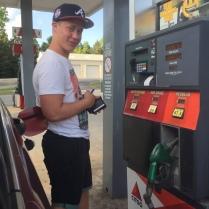 Tankstopp eingelegt
