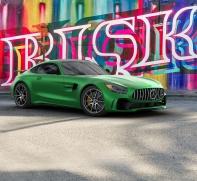Bildretusche Mercedes in Miami